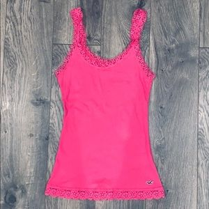 🌺4/$15🌺 Hollister Lace Trim Ribbed Tank